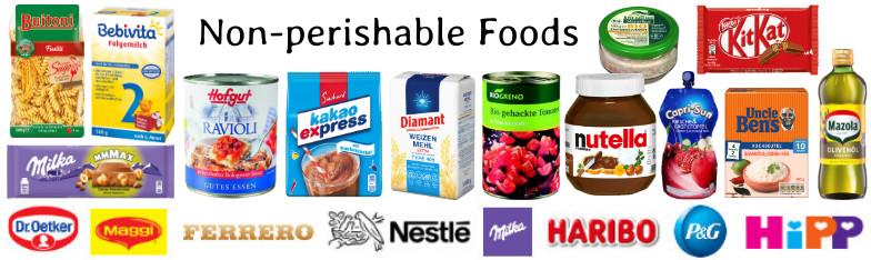 Lebensmittel Food Süßwaren Mehl Hefe Nudeln wholesale