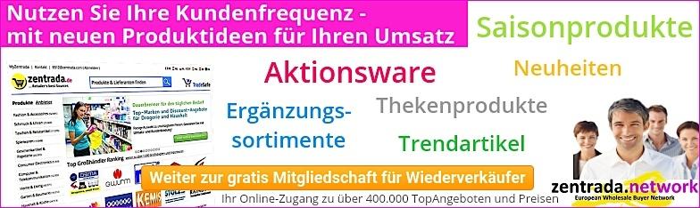 zentrada_Welcome Großhandel