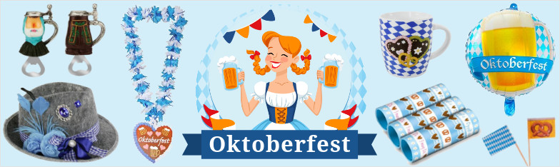 Oktoberfest Partydeko Bierfest Trachtenmode Dirndl Bayerisch nagyker