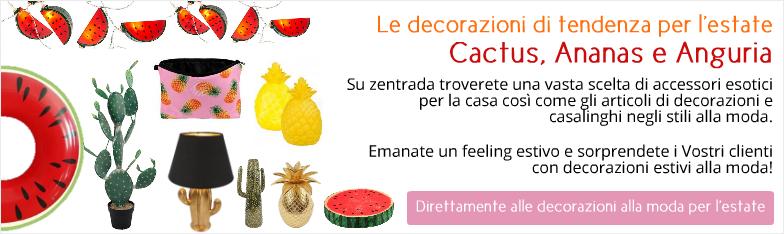 Deko-Hits Sommer Ananas Wassermelone Kaktus Deko Interior ingrosso