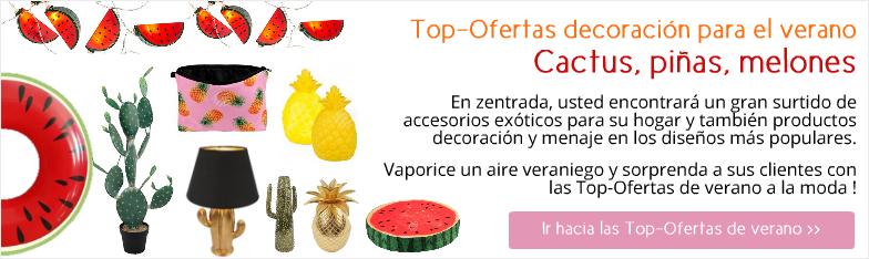 Deko-Hits Sommer Ananas Wassermelone Kaktus Deko Interior mayorista