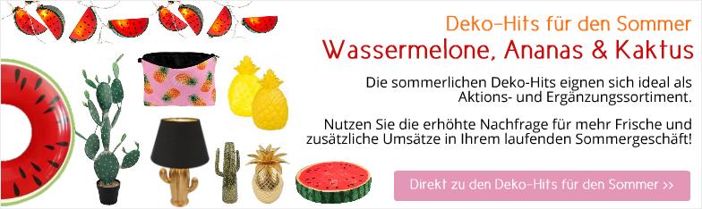 Deko-Hits Sommer Ananas Wassermelone Kaktus Deko Interior Großhandel