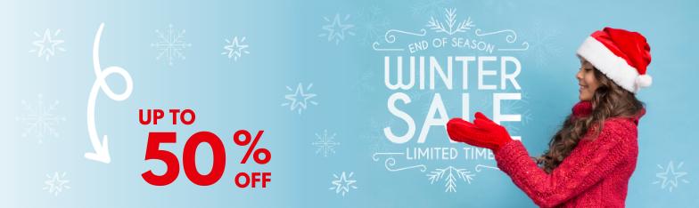 Winter Season Sale Schlussverkauf Ausverkauf Rabatt ingrosso